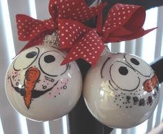 Hand Painted Christmas Ornaments.