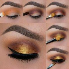 Makeup dourado