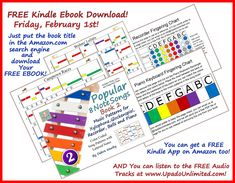Color and Letter Coded Music Patterns so You Can Play Your Very First Song! Matching Colors, Played Yourself, Book Title, Free Ebooks, Something To Do, Piano, February, Students, Notes