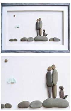 Pebble art couple and dog, Nautical wall art, Dog lovers gift, Sea glass art #pebbleart #stoneart #doglovers #doglovergift #nauticalart #nauticalhomedecor #nauticalwallart #coastaldecor #beachhousedecor #beachhousewallart #coupleinlove #loveart #homedecor #wallart #cutegifts #seaglassart #seaglass #shopping #3dart #mixedmedia