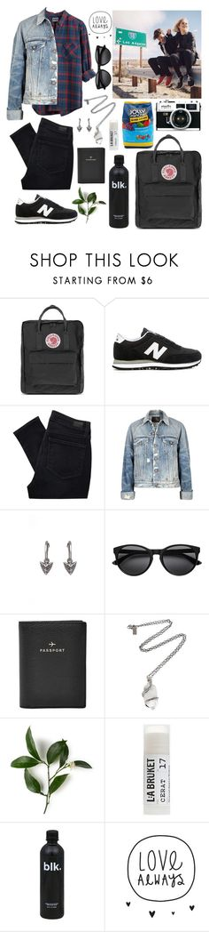 """Road Trips with my love"" by pocketsizejana ❤ liked on Polyvore featuring GET LOST, Fjällräven, New Balance, Paige Denim, ...Lost, R13, Rachel Entwistle, Hard Candy, FOSSIL and Pamela Love"