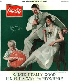 Halloween themed Coca Cola Ad from The Saturday Evening Post  October 1926