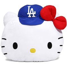 Hello Kitty Dodgers Pillow ❤ Most Adorables !!