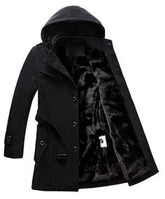 xiaohuoban Men Solid Color Coats Long-Sleeve Cardigan Hood Windbreaker