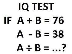 Easy IQ Test Questions