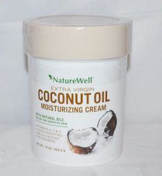 NEW-NatureWell-Extra-Virgin-Coconut-Oil-Moisturizing-Cream-16oz-Tub-Antioxidents