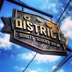 District donuts, sliders and coffee in New Orleans