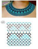 صور Natali Khovalko Diy Necklace Patterns, Beaded Jewelry Patterns, Beading Patterns Free, Beading Tutorials, Seed Bead Jewelry, Bead Jewellery, Necklace Tutorial, Beaded Collar, Bijoux Diy