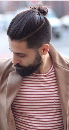 @beardorgin Beard & Long Top Short Sides Hairstyle