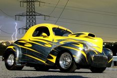 Give me the Willys Custom Paint Jobs, Custom Cars, Automobile, Roadster, New Sports Cars, Sweet Cars, Drag Cars, Car Painting, Modified Cars