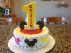 Last Minute Mickey Mouse Cake... Coolest Birthday Cake Ideas