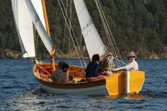 Tern, 24' Gaff-rigged Lapstrake Exploration Ketch ~ Sail and Oar Boats ~ Tad Roberts Small Boat Designs