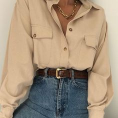 outfit looks ~ outfit looks . outfit looks ideas . outfit looks 2019 . outfit looks summer . outfit looks style Vintage Outfits, Retro Outfits, Trendy Outfits, Cool Outfits, Summer Outfits, Vintage Fashion, Vintage 90s Clothing, Plad Outfits, Collared Shirt Outfits