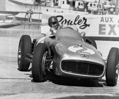 The most expensive car ever auctioned, the $29,650,095 Mercedes Benz Silver Arrow W196 F1 - chassis number 00006/54. This 2.5-liter straight-eight open-wheel Formula 1 driven by Juan Manuel Fangio won the 1954 German Grand Prix.