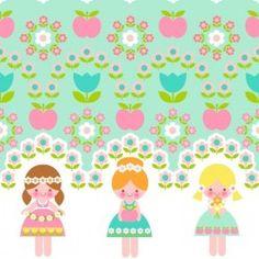 Jersey Finch flower girls pastel - 20.50€/ùm