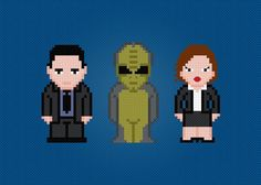 http://www.craftsy.com/pattern/embroidery/hand-embroidery/the-x-files-pdf-cross-stitch-/47112   X-Files cross stitch pattern!