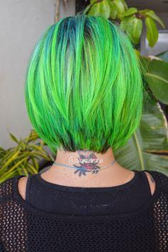 Alexsis Mae : Pravana Neon Blue & Green Hair Color | Inspired by Guy Tang