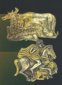 The Thracians, ruled by a powerful warrior aristocracy rich in gold treasures, inhabited an area extending over modern Romania and Bulgaria, northern Greece and the European part of Turkey. ca 4000 BCE. Historical Artifacts, Ancient Artifacts, Les Balkans, Mystery Of History, Ancient Jewelry, Prehistory, Ancient Civilizations, Ancient Greece, Ancient History