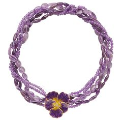 Russian Imperial Pansy Torsade Necklace with Amethyst - Necklaces - Jewelry - The Met Store