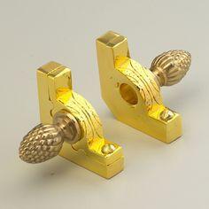 "Pine Finial Premium Range 13 X Polished Brass Stair Rods 1//2/"" x 28.5/"""