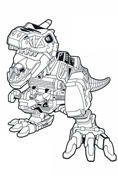 Awesome Tyrannosaurus Rex Coloring Page   Power Rangers   The Official Power Rangers  Website Más