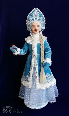 Ooak Dolls, Barbie Dolls, Art Dolls, Christmas Barbie, Retro Christmas, Baby Doll Clothes, Barbie Clothes, Fancy Costumes, Russian Fashion