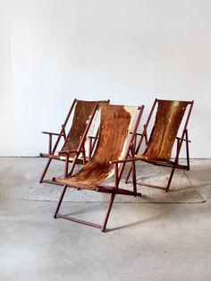 vintage cowhide furniture | Vintage Cowhide Lounge Chairs by 86home on Etsy
