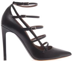 tabitha simmons josephina leather strappy pumps black