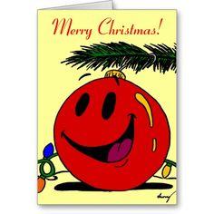 "Happy Ornament ""Merry Christmas"" Christmas Card"