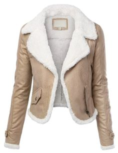 MBJ Womens Asymmetrical Suede Aviator Jacket With Soft Faux Fur Lining $25.49 (save $17.00)