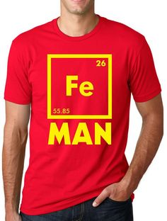 Iron Science T Shirt Funny Chemistry Shirt Fe Periodic Table Tee: Amazon.ca: Clothing & Accessories