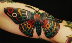 Tattoo - Butterfly - Color - Traditional