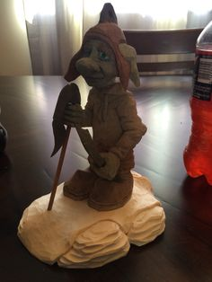 Caricature carving troll by Dwayne Gosnell