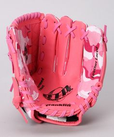 """Pink Camouflage Baseball Glove from the Summer Starts Here collection on zulily! """"Please & Thank You"""""""
