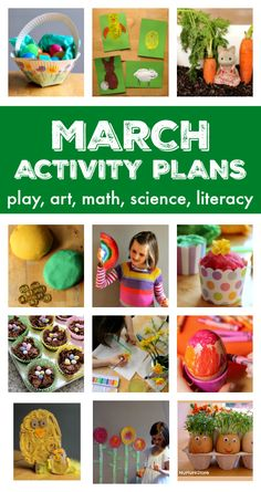 Seasonal activity plans for Spring – things to do in March A fantastic resource of things to do in March with your kids – a full month of activity plans and lesson plans for March Spring Activities, Learning Activities, Toddler Activities, Preschool Activities, Crafts Toddlers, Toddler Themes, Senior Activities, Preschool Music, Toddler Play