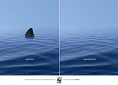 Publicité - Creative advertising campaign - WWF: Frightening / More frightening