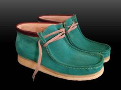 Pistachio Green Dyed Clarks Wallabee Clarks Boot