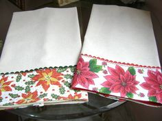 panos de prato | Costura com arte | Elo7 Dish Towels, Hand Towels, Tea Towels, Christmas Towels, Christmas Crafts, Sewing Crafts, Sewing Projects, Fancy Hands, Baby Sheets