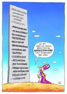 Atheismus Deutschland: Cartoons & Witze