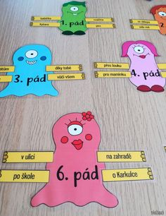Produkt - URČOVÁNÍ PÁDŮ – PŘÍŠERKY A RUCE Games For Small Kids, Busy Bags, Learning Games, School Hacks, Classroom Activities, Holidays And Events, Kids And Parenting, 5 D, Back To School