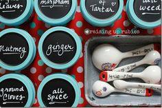 Spice Organization with Mason Jars - Mason Jar Crafts Love