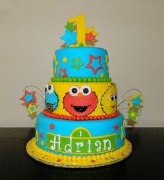 1st Birthday Sesame Street Cake amazing sesame street cakes   Sesame Street Cupcakes   Flickr - Photo Sharing!  girl boys unisex party birthday elmo monster cookie