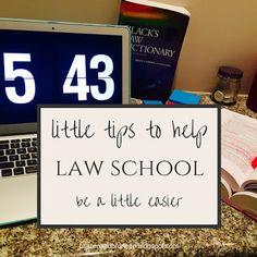 3 little tips to help law school be a little easier | brazenandbrunette.com