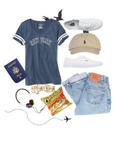 """leaving to a big city"" by hmiranda1221 on Polyvore featuring Jayson Home, Old Navy, Vans, Polo Ralph Lauren, Levi's and Frends"