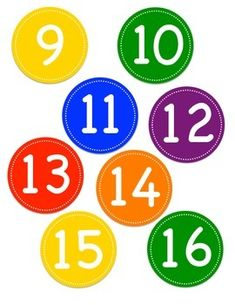 Rainbow Colored Circle Number Labels 1 by Teachers'LilHelpers Monster Theme Classroom, Polka Dot Classroom, Preschool Lesson Plans, Preschool Math, Back To School Activities, Preschool Activities, Classroom Displays, Classroom Labels, File Folder Labels