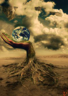 Impressive imagery by digital artist Vrusha Patel by green_initiative Mother Earth, Mother Nature, Eden Project, Surreal Photos, Illusion Art, Environmental Art, Photo Manipulation, Trees To Plant, Amazing Art
