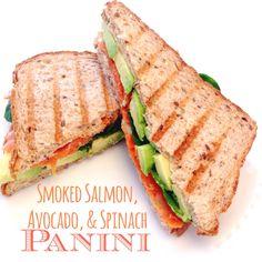 Smoked Salmon, Avocado, & Spinach Panini