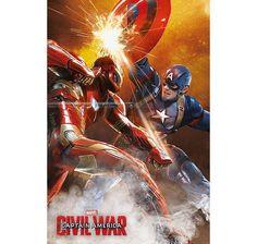 Captain America Civil War Poster Fight. Hier bei www.closeup.de