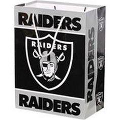 Oakland Raiders NFL Medium Gift Bag