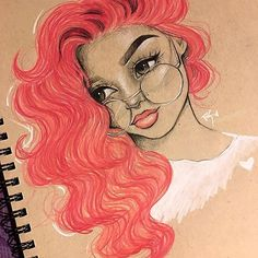 Goodmorning!✨Hope everyone has a blessed day today! • • • • #art #artist #draw #drawing #drawings #illustration #sketch #sketching #instaart #hair #beauty #color #artwork #arts #glasses #pinterest #inspiration #Godisgoodallthetime